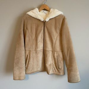 Thick Tan jacket with fleece interior